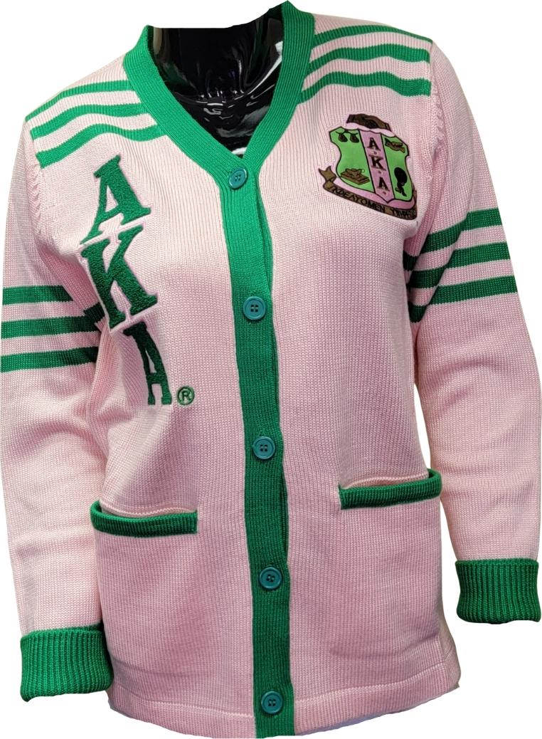 8715926bb Buffalo Dallas Alpha Kappa Alpha Sorority Ladies Cardigan Sweater