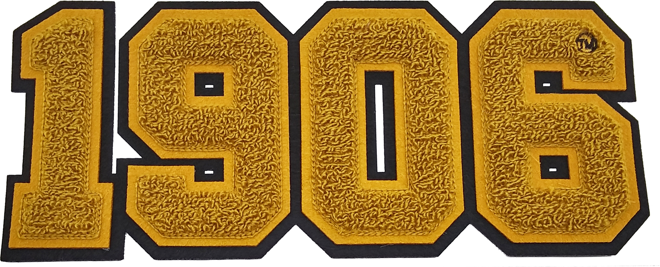 """Alpha Phi Alpha 1906 Chenille Sew-On Patch Old Gold - 11.75/""""W"""