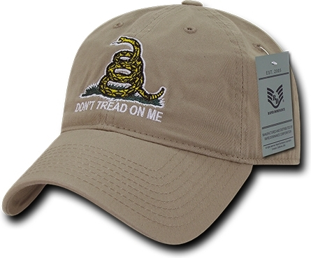 RapDom Don/'t Tread On Me Gadsden Flag Relaxed Graphic Mens Cap