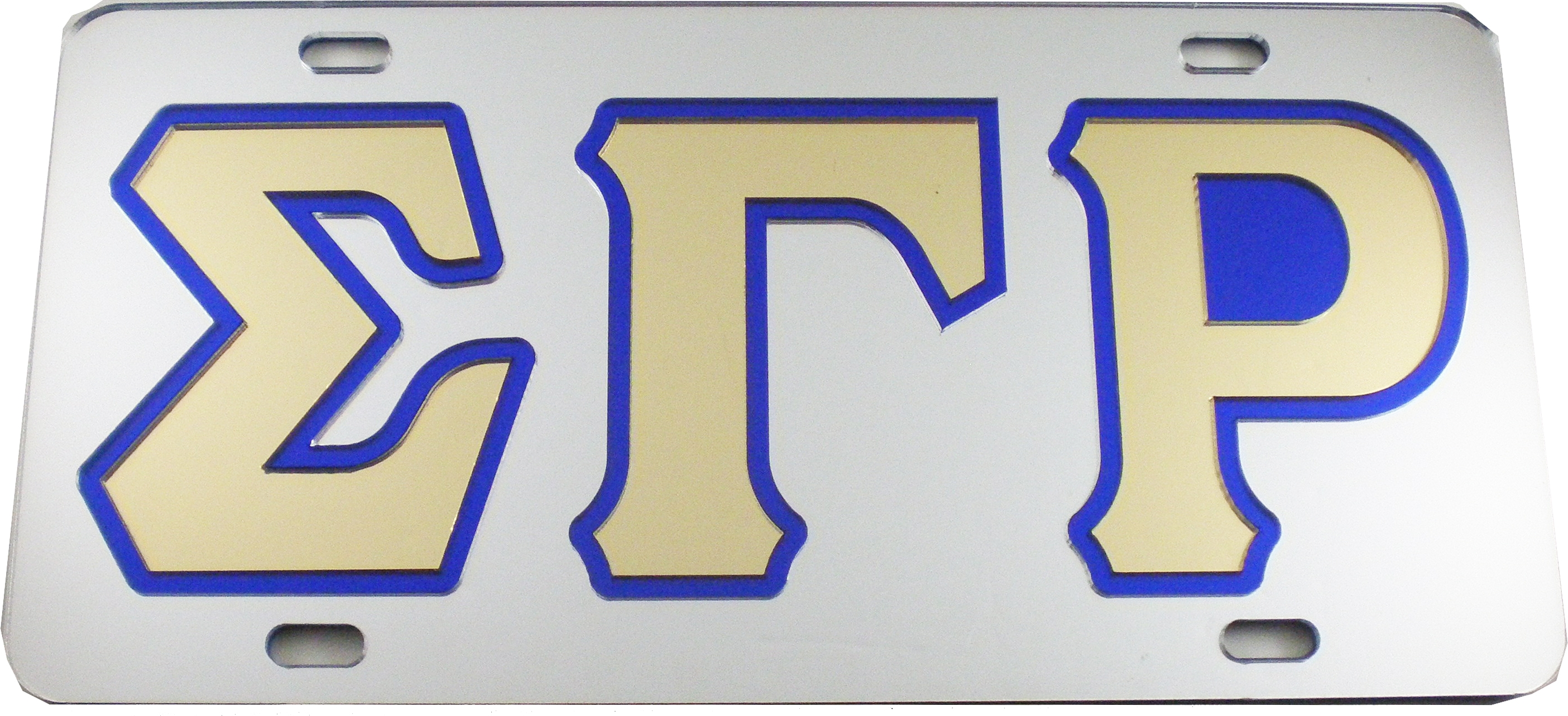 Sigma Gamma Rho Outlined Mirror License Plate Ebay