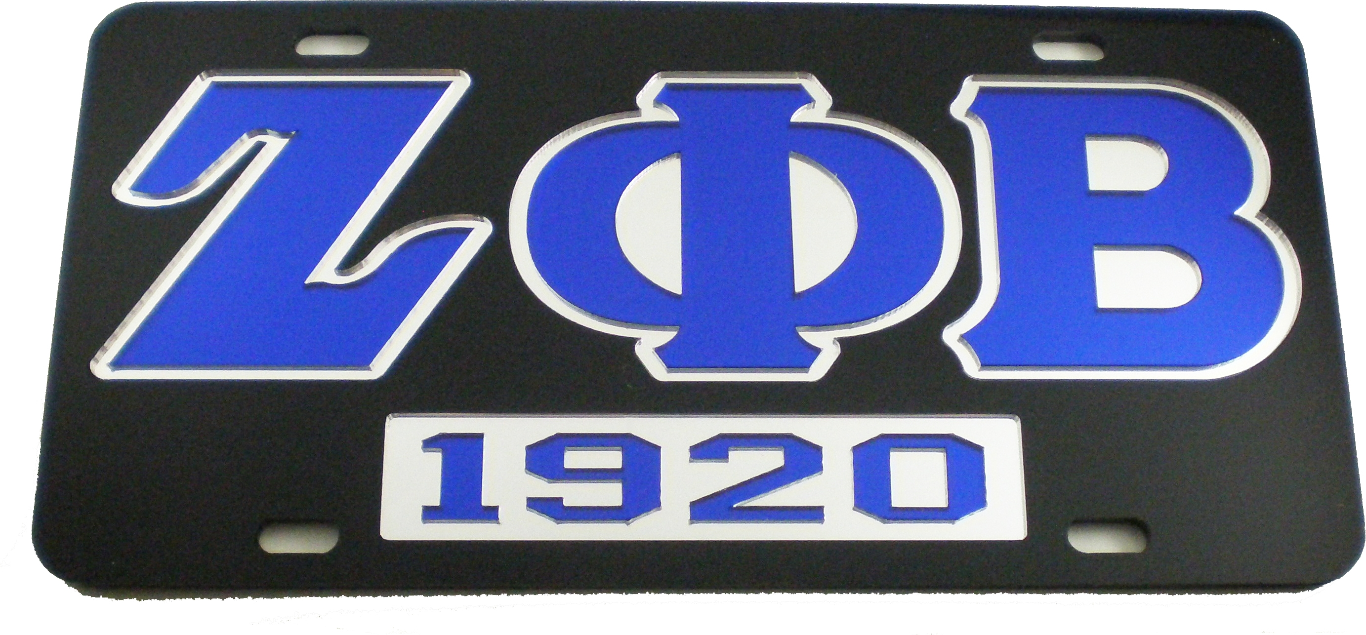 Zeta Phi Beta 1920 Mirror Insert Car Tag