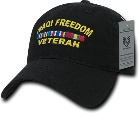 5e74d8ee RapDom Iraqi Freedom Veteran Relaxed Cotton Mens Cap | The Cultural ...