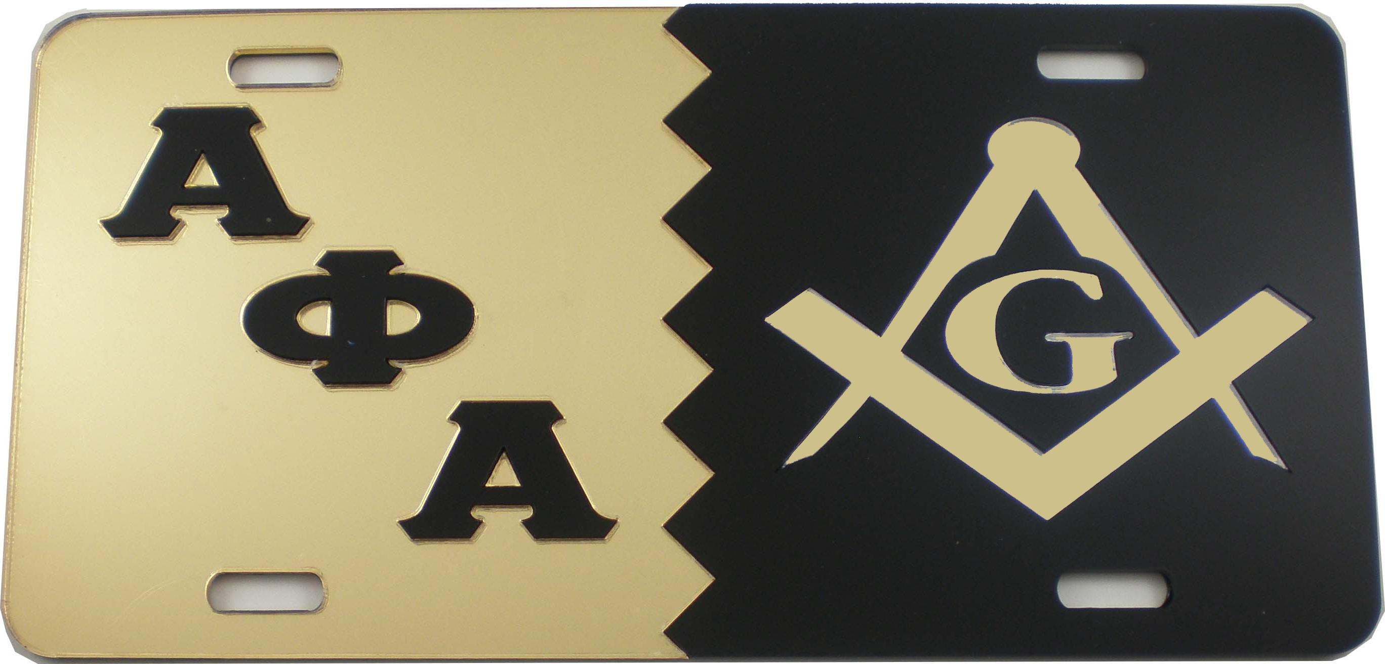 Alpha phi alpha mason split mirror license plate ebay alpha phi alpha mason split mirror license plate biocorpaavc Images