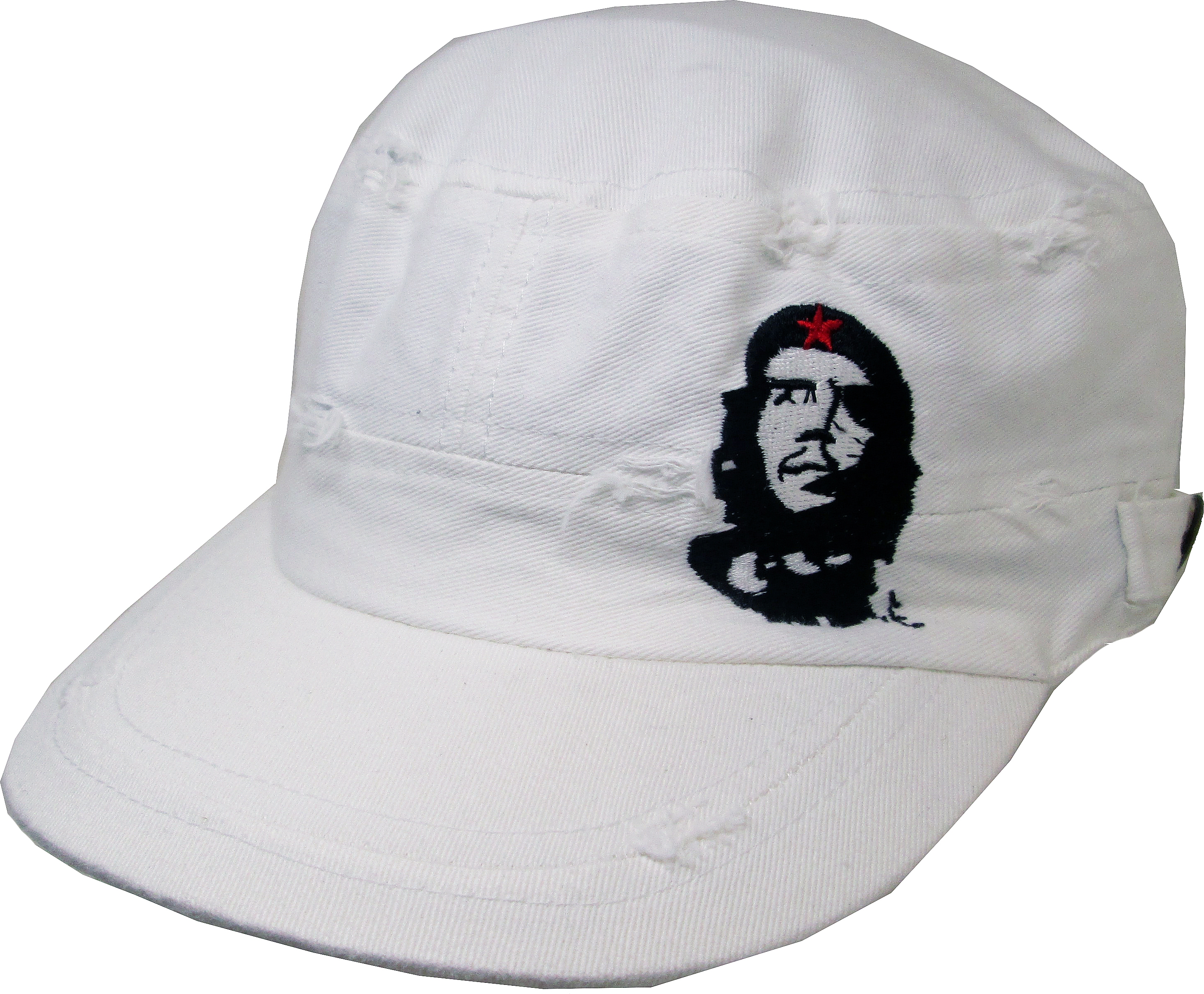 47186d0a3aa CHE GUEVARA RED Star Distressed Baseball Hat