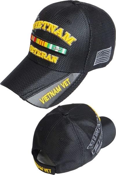 22e5159482af1e Vietnam Veteran Ribbon Shadow Jersey Mesh Mens Cap