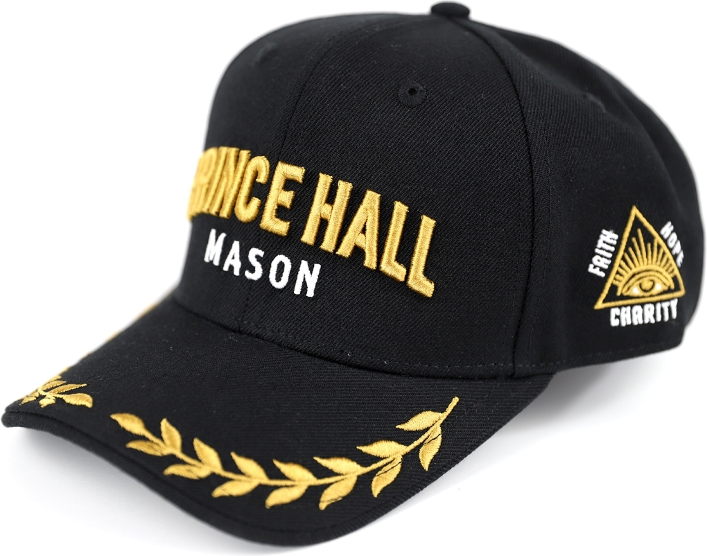 Black - Adjustable Big Boy Prince Hall Mason Divine Mens Cap