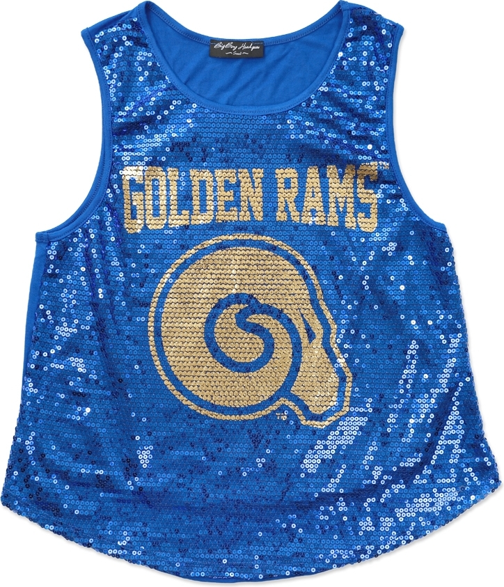 aa4d73a37a910 Big Boy Albany State Golden Rams S2 Ladies Sequins Tank Top
