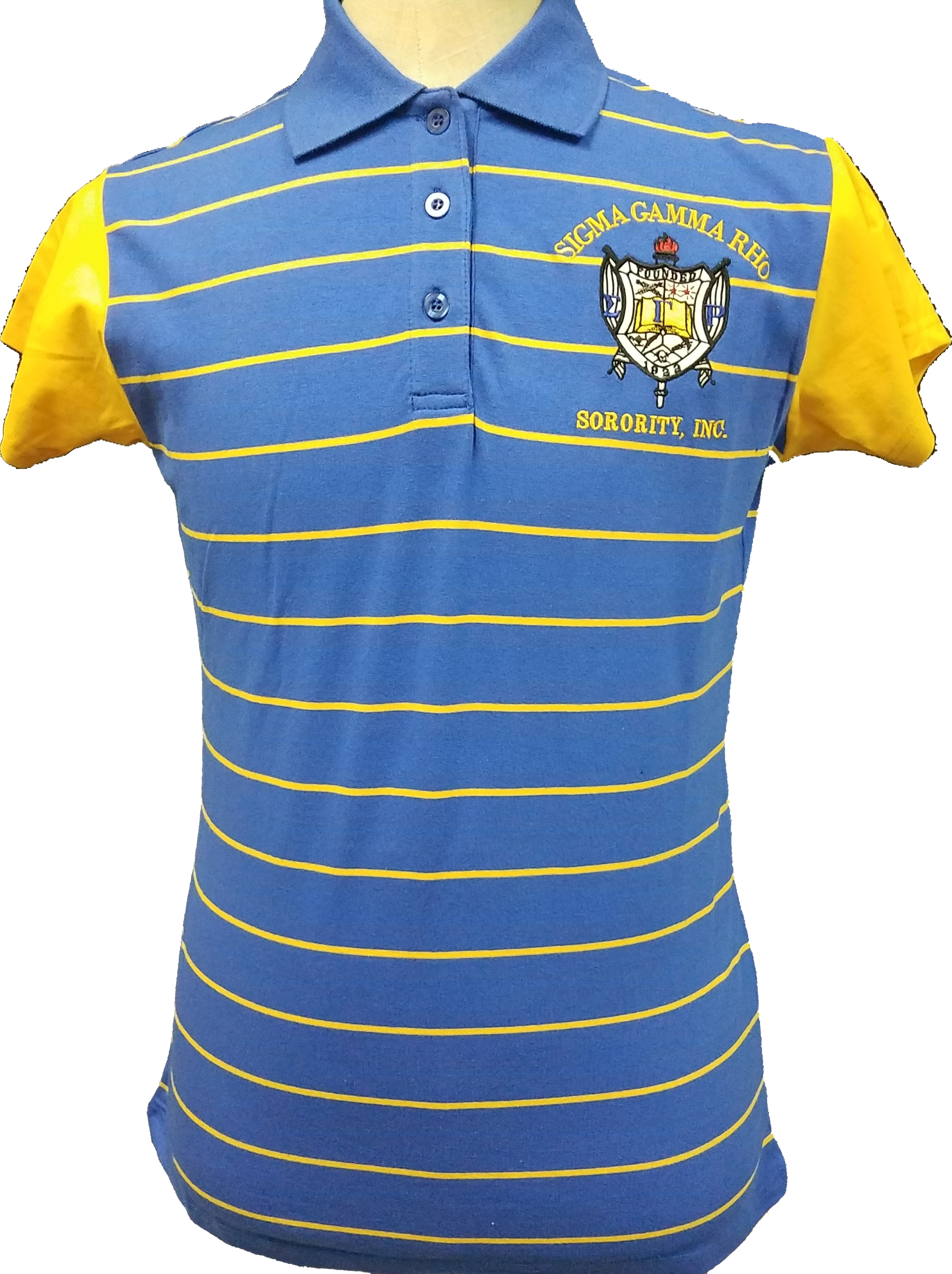 Sigma Gamma Rho Letters Embroidered Women/'s Polo Shirt