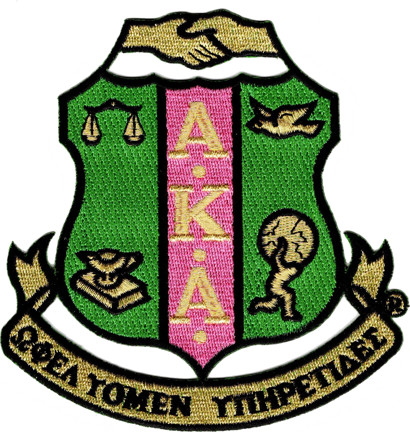 0308ee27a0 Alpha Kappa Alpha Crest Iron-On Patch   The Cultural Exchange Shop ...