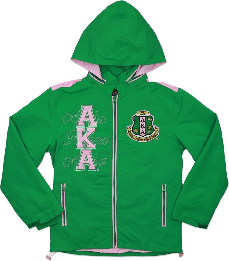 85d763d43c Big Boy Alpha Kappa Alpha Divine 9 S6 Hooded Ladies Windbreaker ...