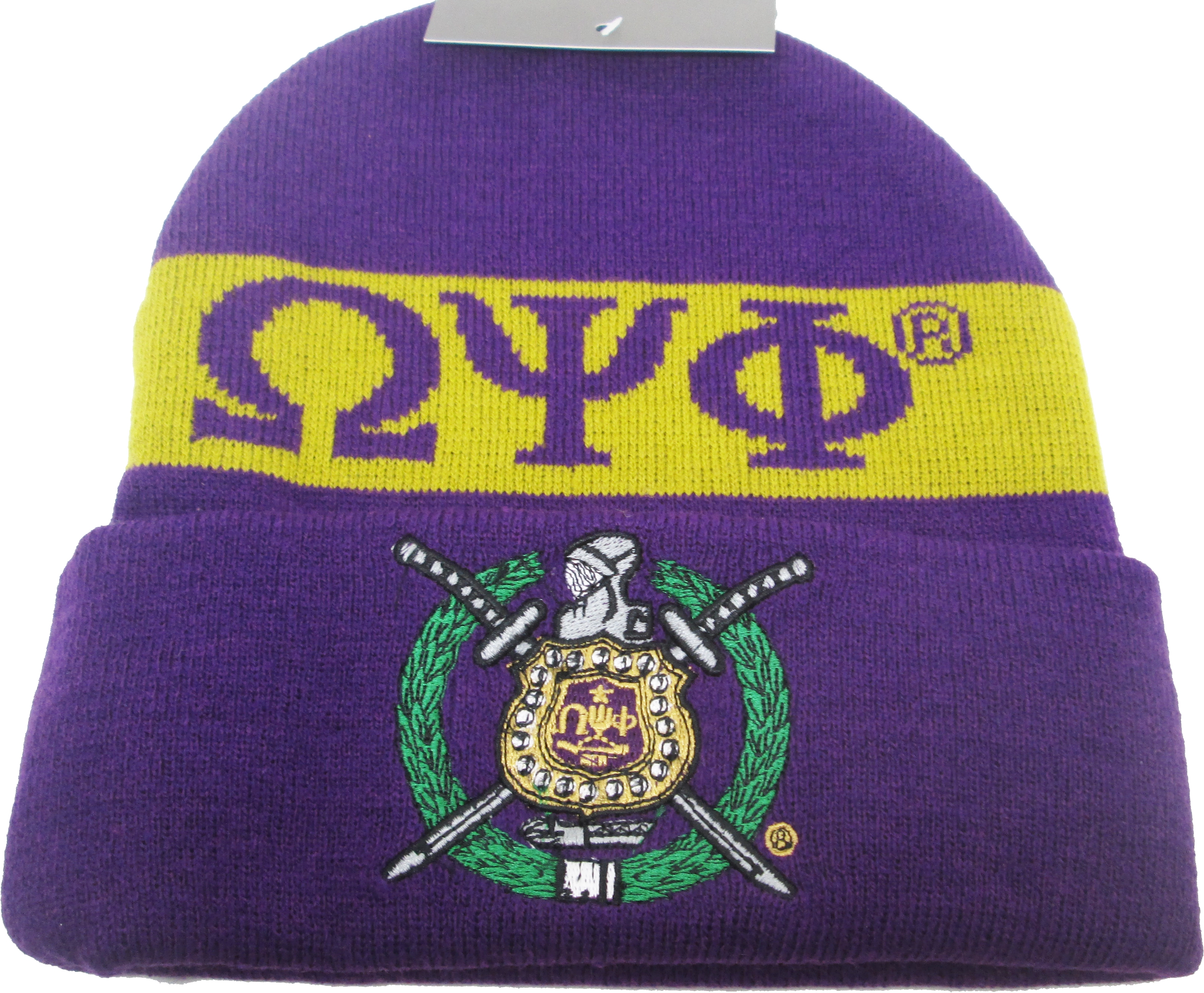 22730b64ee9 OMEGA PSI PHI Fraternity Mens Knit Beanie -  18.00