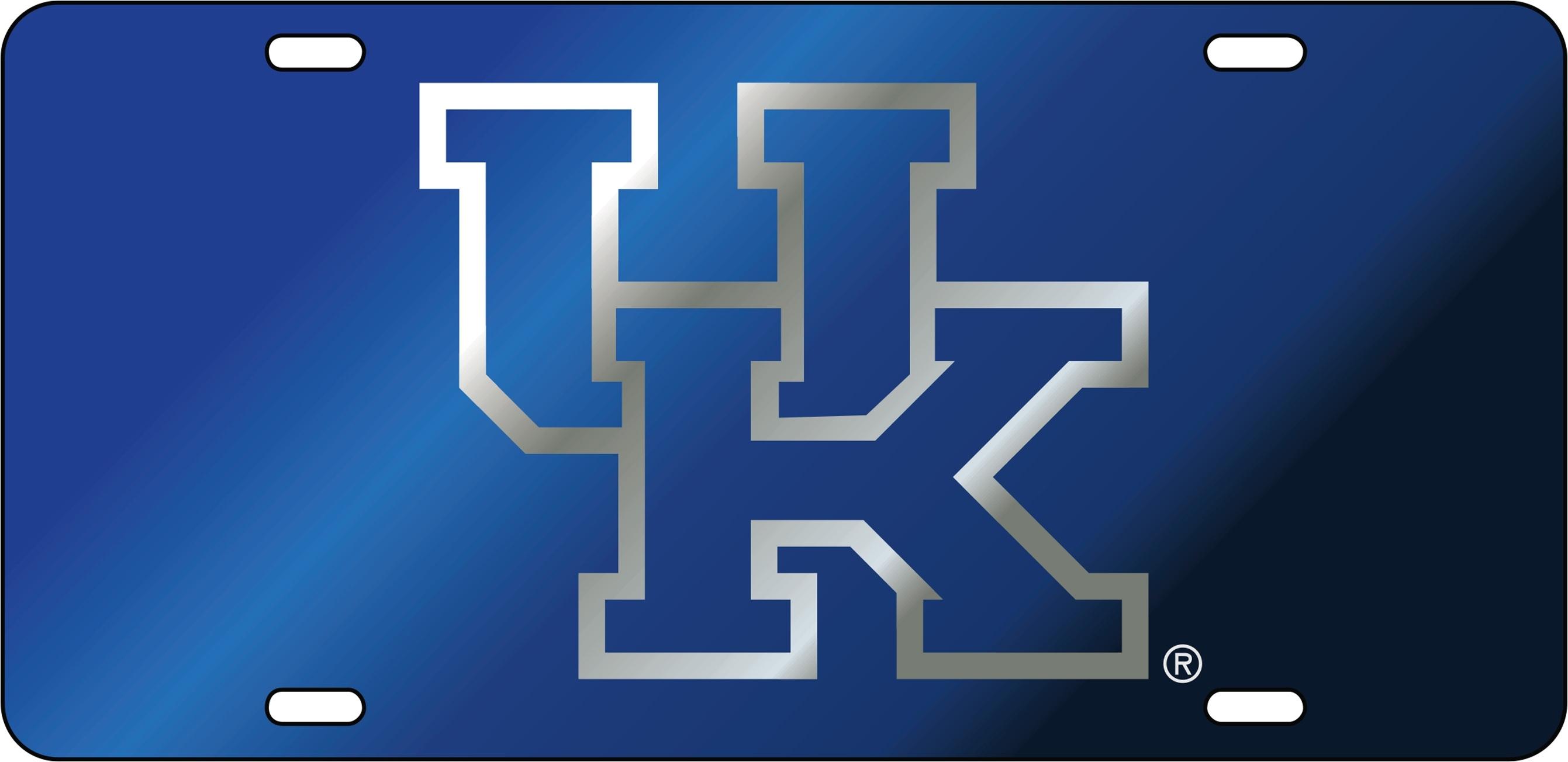 University Of Kentucky Laser Cut Inlaid Uk Logo Mirror Car Tag Ebay