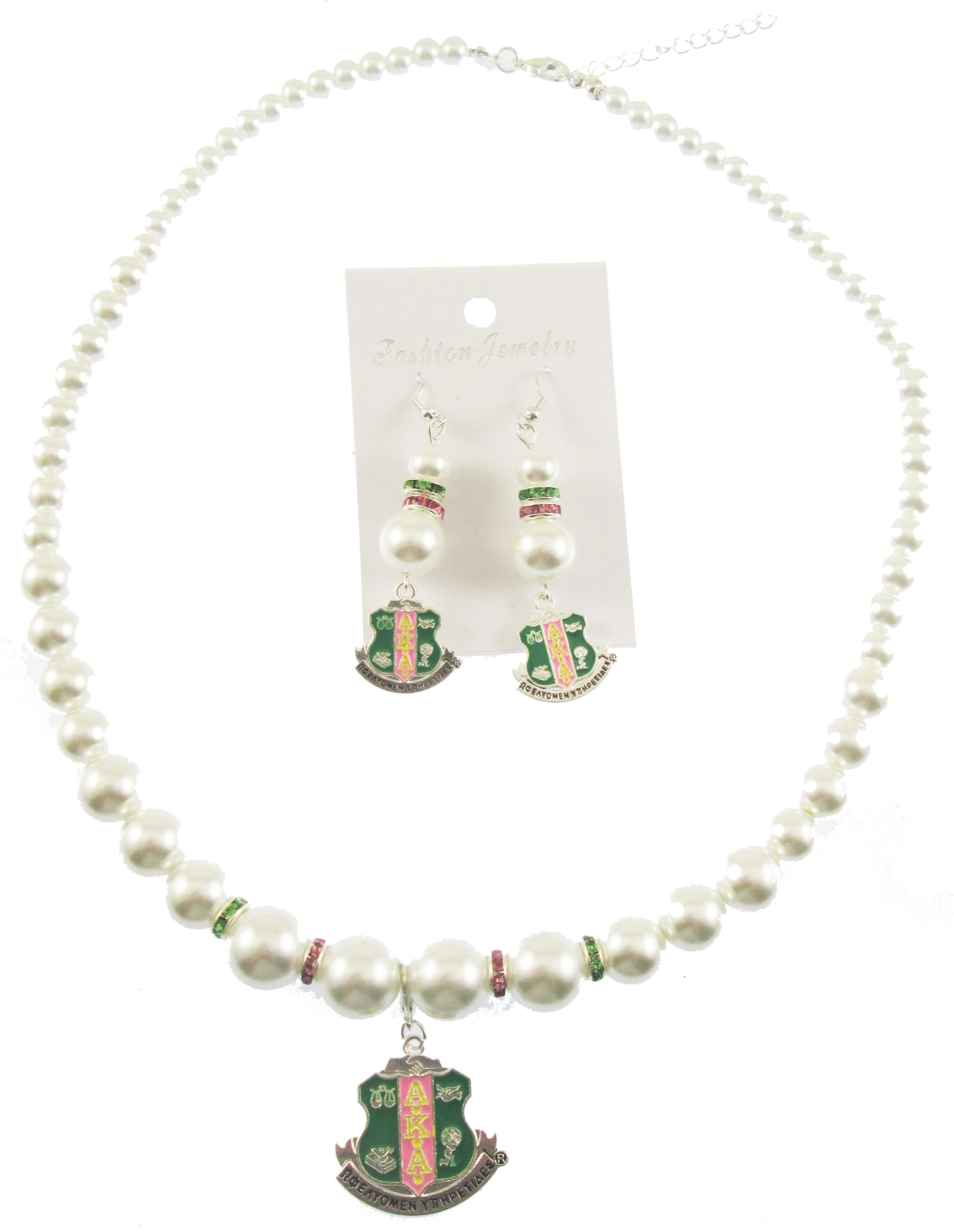 Alpha Kappa Alpha Necklace Set
