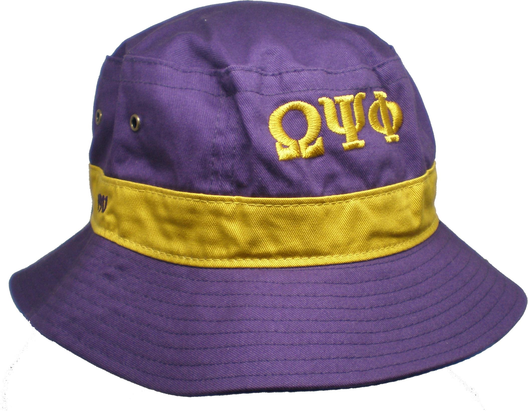 Buffalo Dallas Omega Psi Phi Fraternity Mens Floppy Bucket Hat  4d014e77a9b