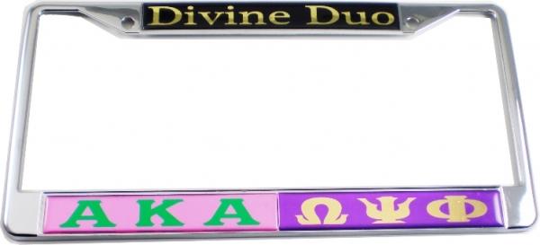Alpha Kappa Alpha + Omega Psi Phi Divine Duo Split License Plate ...