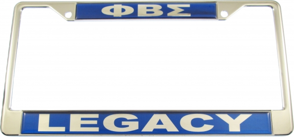 Phi Beta Sigma Legacy Domed License Plate Frame The