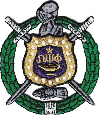Omega Psi Phi Escutcheon Shield Wreath Iron On Patch The Cultural