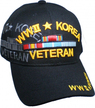 fbb956919a2141 World War II + Korea War Veteran Shadow Mens Cap