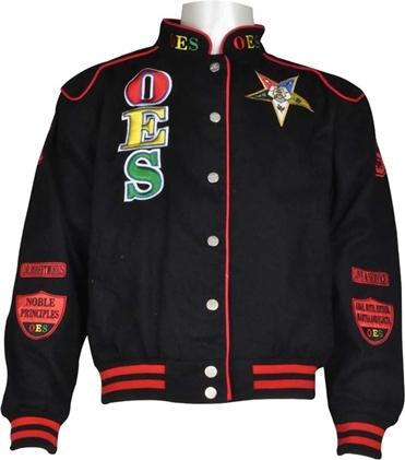 Big Boy Headgear Order of The Eastern Star Womens Twill Jacket Black