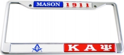 View Buying Options For The Mason + Kappa Alpha Psi Split License Plate Frame