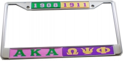 View Buying Options For The Alpha Kappa Alpha + Omega Psi Phi Split License Plate Frame