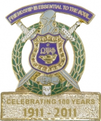View Buying Options For The Omega Psi Phi Celebrating 100 Years of Friendship Lapel Pin