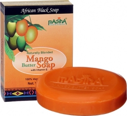 View Buying Options For The Madina Mango Butter & Vitamin E African Black Soap [Pre-Pack]