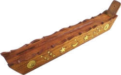View Buying Options For The Madina Sun Moon & Star Symbol Boat Style Ash Catcher Incense Holder