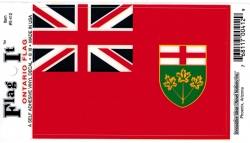View Product Detials For The Ontario Province Flag Car Decal Sticker [Pre-Pack]
