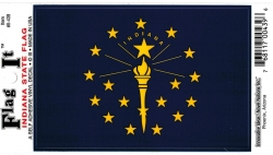 View Buying Options For The Indiana State Flag Car Decal Sticker [Pre-Pack]