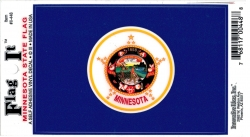 View Buying Options For The Minnesota State Flag Car Decal Sticker [Pre-Pack]