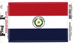 View Buying Options For The Paraguay Flag Car Decal Sticker [Pre-Pack]