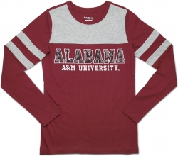 View Buying Options For The Big Boy Alabama A&M Bulldogs Ladies Long Sleeve Tee