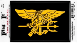 View Buying Options For The US Navy Seals Trident Symbol Flag Car Decal Sticker [Pre-Pack]