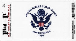 View Buying Options For The U.S. Coast Guard Semper Paratus 1790 Flag Car Decal Sticker [Pre-Pack]