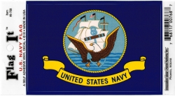 View Buying Options For The U.S. Navy Eagle Logo Banner Flag Car Decal Sticker [Pre-Pack]