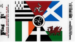 View Buying Options For The Celtic Nations Flag Car Decal Sticker [Pre-Pack]