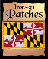 View Buying Options For The Maryland State Flag Iron-On Patch [Pre-Pack]