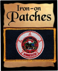 View Buying Options For The Minnesota State Flag Iron-On Patch [Pre-Pack]