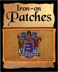 View Buying Options For The New Jersey State Flag Iron-On Patch [Pre-Pack]