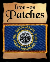 View Buying Options For The South Dakota State Flag Iron-On Patch [Pre-Pack]