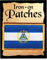 View Buying Options For The Nicaragua Flag Iron-On Patch [Pre-Pack]