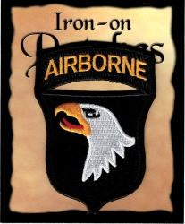 View Buying Options For The Army Airborne Screaming Eagle Shield Iron-On Patch [Pre-Pack]