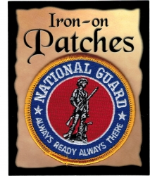 View Buying Options For The National Guard Always Ready Always There Round Iron-On Patch [Pre-Pack]