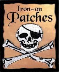 View Buying Options For The Jolly Roger Pirate Outline Cut-Out Iron-On Patch [Pre-Pack]