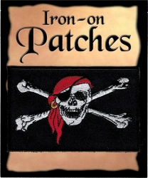 View Buying Options For The Pirate Skull and Crossbones Flag Iron-On Patch [Pre-Pack]