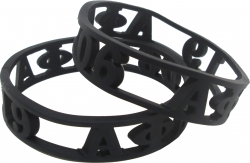 View Buying Options For The Alpha Phi Alpha 3D Cut Out Silicone Bracelet [Pre-Pack]