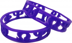 View Buying Options For The Omega Psi Phi 3D Cut Out Silicone Bracelet [Pre-Pack]