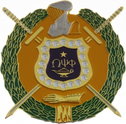 View Buying Options For The Omega Psi Phi Escutcheon Shield Die-Cut Car Badge