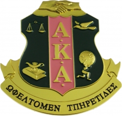 View Buying Options For The Alpha Kappa Alpha Crest Die-Cut Car Badge